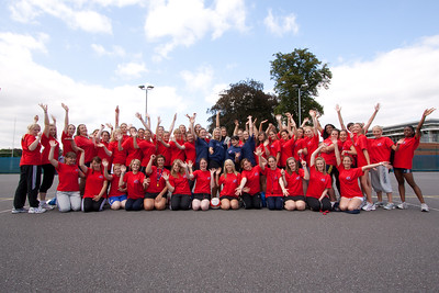 Young Netball Leaders of the future at the Young Leaders Camp 2009