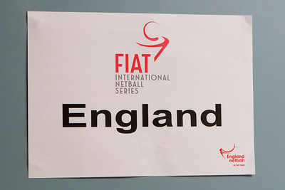 The England Netball changing Room during the 2nd of 3 matches as part of the FIAT International Netball Test Series between England & New Zealand at the Capital FM Arena, Nottingham on 17th January 2011