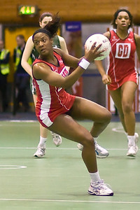 Action during England v N Ireland Match on Day 1 of the Netball Europe Open Championships 2008
