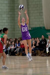 Action during the Cooperative Netball Superleage match between Loughborough Lightning and Celtic Dragons played at Walsall Campus on 6th February 2010.