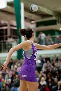 Lianne Badmin looks on during the Cooperative Netball Superleage match between Loughborough Lightning and Celtic Dragons played at Walsall Campus on 6th February 2010