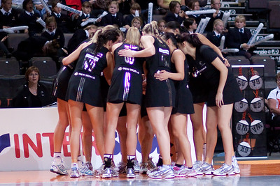 The New Zealand Silver Ferns Netball Team in action against Malawi in game three of the World Netball Series from the MEN arena in Manchester, England, October 2009