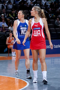 Tamsin Greenway of England Netball looks on during game one of the World Netball Series, England Netball v Samoa. October 2009 at the MEN arena in Manchester, England.