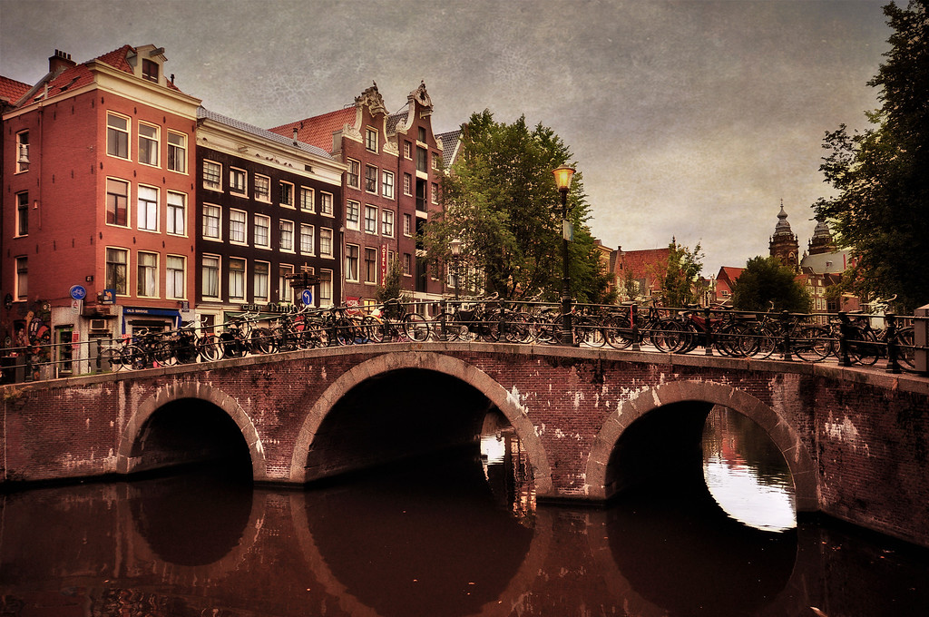 Old Brick Bridge in Amsterdam