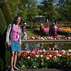 Cheryl at Keukenhof Gardens