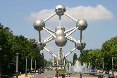 The Atomium - built for the 1958 World Fair - Brussels, Belgium