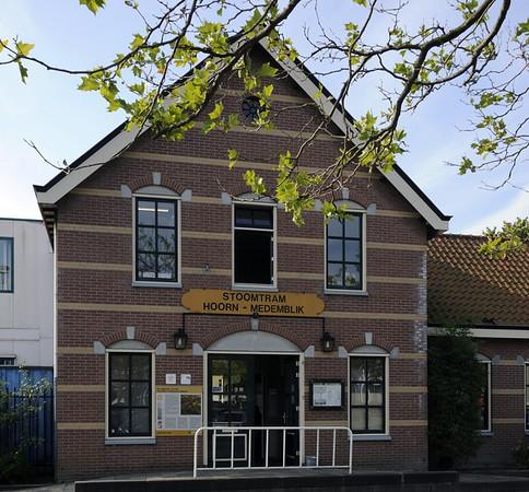 Welcome to the Hoorn - Medemblik Steam Tramway!  Fri 6 September 2013.  Its standard gauge, single track line runs for 20km through north west Holland from Hoorn station, seen here, to Medemblik, on the Ijsselmeer inland sea.