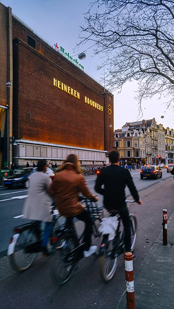 Building of the Heineken Experience, a museum housed in the historic brewery in the centre of Amsterdam.