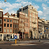 Early morning in downtown Amsterdam