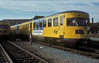 NS Plan X-v diesel unit 186 is at Zwolle depot on 22 February 1990