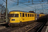 DEII diesel multiple unit 174 is at Zutphen on 22 February 1990