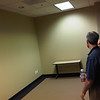 this is the conference room.  its about the size of Sawgrass. the far wall will be where the large tv goes.  the opposite wall (behind me) is a whiteboard.
