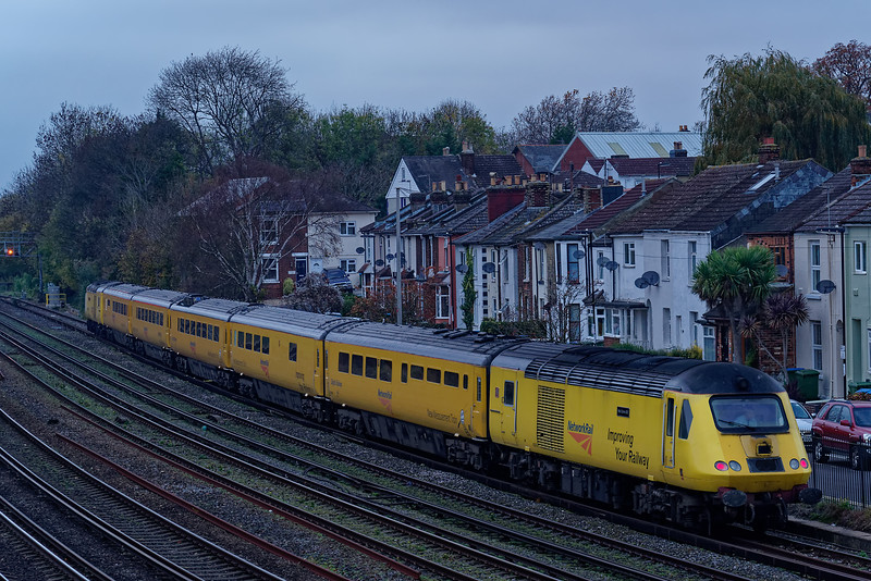 43013 / 43062 with 1Q23, the 15:13 Salisbury - Salisbury via Southampton Up Goods Loop, NMT. Shown reversing in Southampton Up Goods Loop on 15th November 2018.