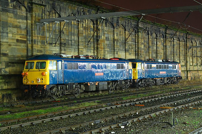 87002 & 86101 stable in Carlisle, being used for ice breaking duties on the WCML  06/12/12