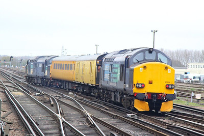 37606 Top & Tailed with 37038 depart Eastleigh on the: 1Q14 13:45 Eastleigh Yard to Derby RTC  26/10/12