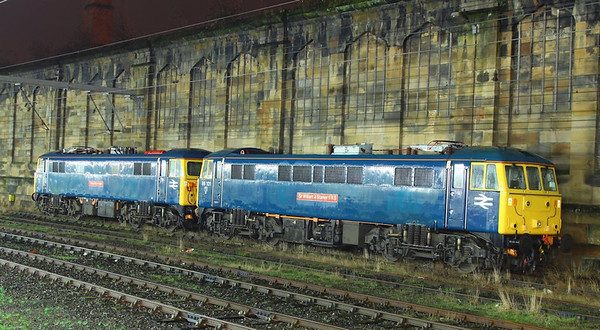 86101 & 87002 stable in Carlisle, being used for ice breaking duties on the WCML  06/12/12