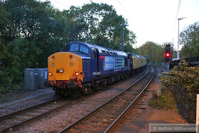37604 heads west through Gospel Oak on the rear of the: 1Q51 09:42 East Ham to Old Oak Common 14/11/13  Watch the video at: http://youtu.be/j_RASnqzvho