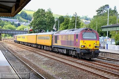 67023 heads north through Totnes on: 1Q19 11:05 Plymouth to Paddington 31/07/15  Watch the video at: https://youtu.be/pmGG2u0R0B4