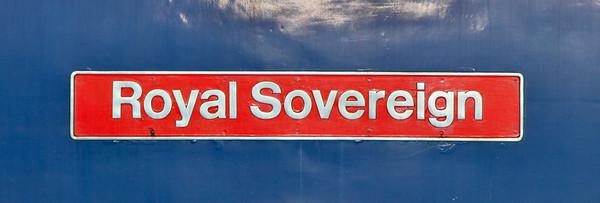 "87002 named ""Royal Sovereign"" 21/11/11"