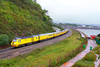 """43062 heads north through Dawlish Warren passing Langstone Rock on the:<br /> 1Q19 10:01 Plymouth to Paddington<br /> 26/08/11<br /> <br /> Watch the video at:<br />  <a href=""""http://www.youtube.com/watch?v=TF8wc6BUOKQ"""">http://www.youtube.com/watch?v=TF8wc6BUOKQ</a>"""