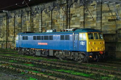 86101 stables in Carlisle  21/11/11  The loco was hired by Network Rail for overhead wire ice breaking duties