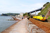 """43062 curves onto the Teignmouth Sea Wall working the:<br /> 1Q19 10:01 Plymouth to Paddington<br /> 24/06/11<br /> <br /> Watch the video at:<br />  <a href=""""http://www.youtube.com/watch?v=3gSNT1nObwo"""">http://www.youtube.com/watch?v=3gSNT1nObwo</a>"""
