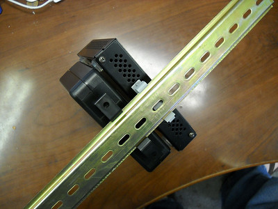 Back of rail showing clips