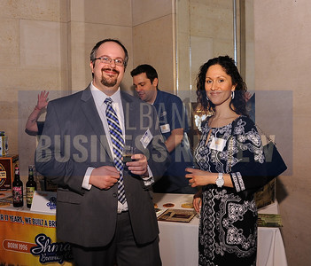 4-2-2015, ABR's research director Todd Kehoe & Amber Mooney of Ballston Spa CSD at ABR's Hoppy Hour.
