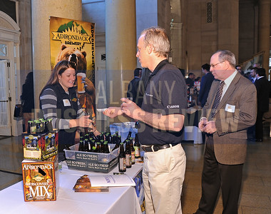4-2-2015,  Adirondack Brewery's sales & marketing manager Laura Stevens at ABR's Hoppy Hour.