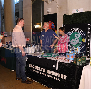 4-2-2015, Brooklyn Brewery's table at ABR's Hoppy Hour.
