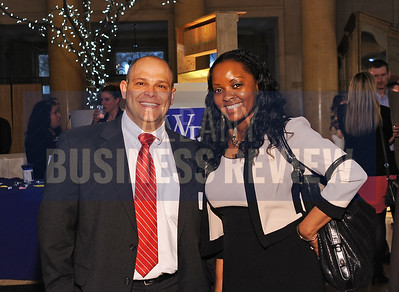 4-2-2015,  Gregory Bruno & Lashonda Love from Capital Bank at ABR's Hoppy Hour.