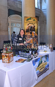 4-2-2015,  Laura Stevens, sales & mrketing manager from Adirondack Brewery at ABR's Hoppy Hour.