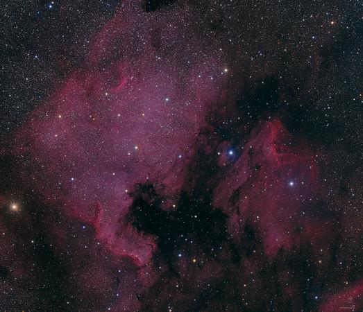 NGC 7000 (Nordamerikanebel) und IC 5070 (Pelikannebel)