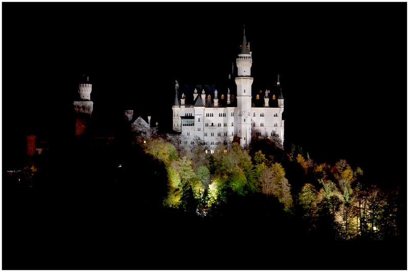 Neuschwanstein Castle at night