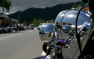 Motorrad in Coromandel