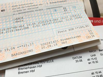 Zurück in die Schweiz mit der Deutschen Bahn