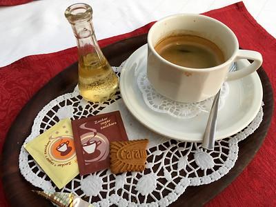 Halt in Schwerte (Kaffee mit Slibowitz)