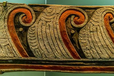 Kanu-Verziehrung aus Papua Neuginea im «Auckland War Memorial Museum»