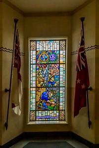 Bleiglasfenster im «Auckland War Memorial Museum»