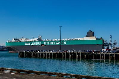 Das Schiff «SALOME» mit dem mein Wohnmobil nach Europa verschifft wird