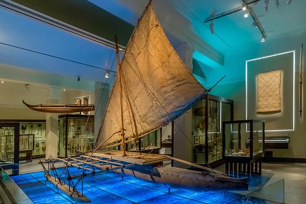 Historisches Segel-Kanu aus Fiji im «Auckland War Memorial Museum»