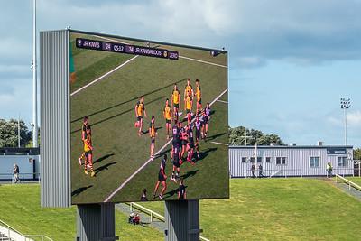 Riesige Anzeigetafel im Mount Smart Stadion