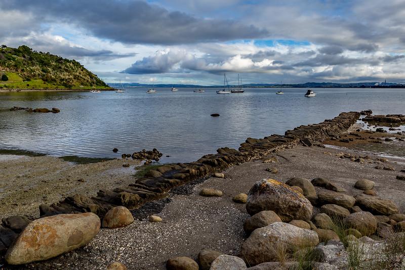 Der natürliche Landesteg («Natural Jetty») in Taurikura
