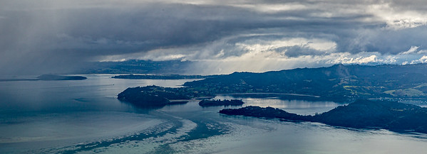 Blick vom «Mount Manaia» Richtung Whangarei (links) und «Parua Bay» (rechts)