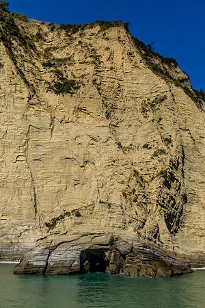 Sandsteinformationen an der «Tolaga Bay»