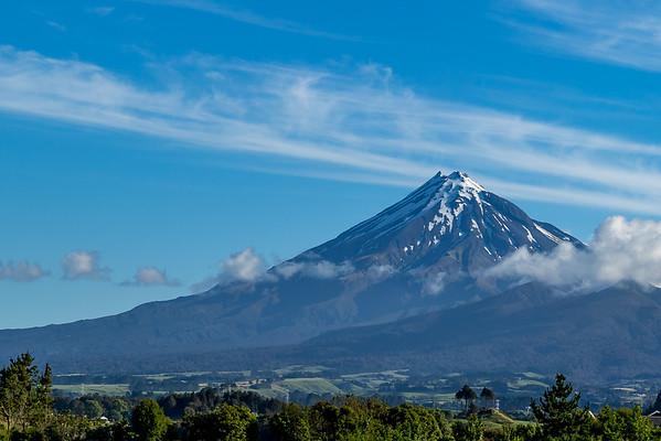 Mount Taranaki von New Plymouth gesehen