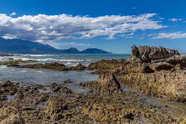 Felsformation bei der Bucht von Kaikoura