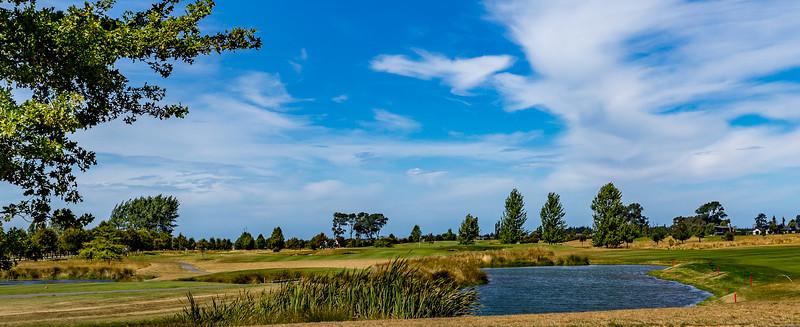 Einer der vielen Golfplätze in Neuseeland in der Nähe von Christchurch