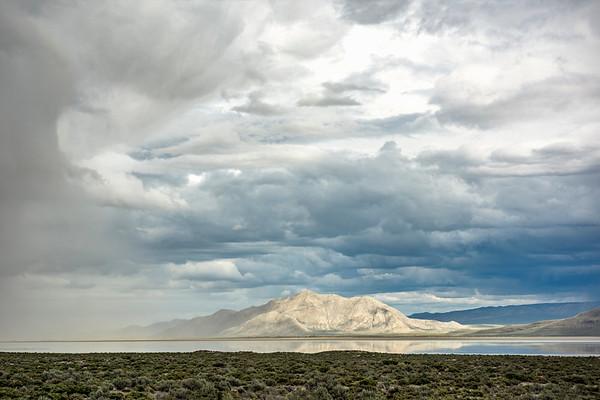 Storm Overtaking Old Razorback Mountain, Black Rock/High Rock Conservatoion Area, Nevada
