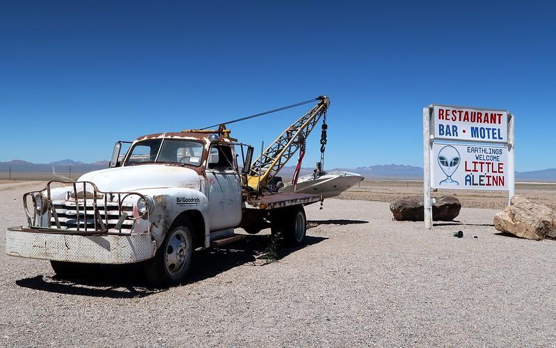 Visiting the Little A'le'inn in Rachel, Nevada